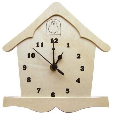 Horloge en bois modèle coucou 195 mm x 193 mm