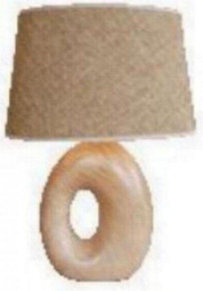 Lampe de table en céramique brun avec abat-jour- H 35 cm