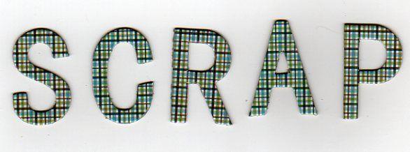 Lettres carton 3,5 cm  2 x 26 lettres