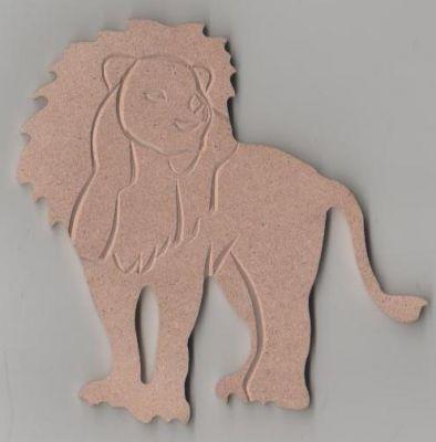 Support lion mdf peindre 100 mm - Fourniture loisirs creatifs ...