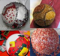 Lot de 3 boules en polystyrène diamètre 8 cm
