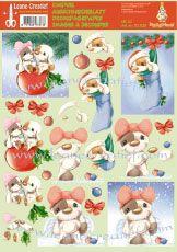 Feuilles à découper motif Noël N° 4