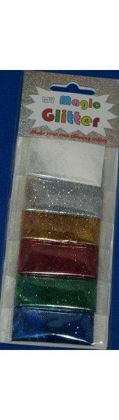 Lot de 6 paillettes de couleurs différentes