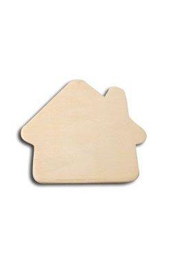 Support bois Maison en bois 7cm