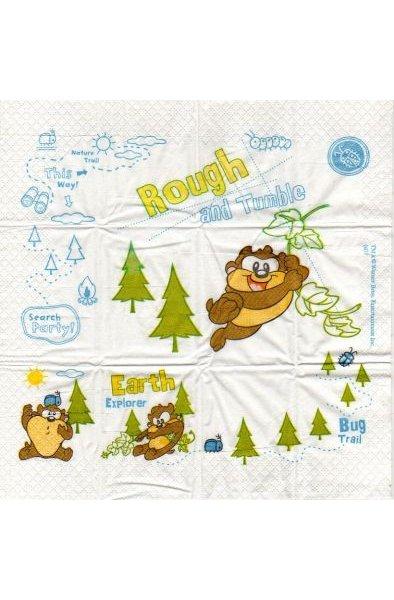 Mouchoir papier Baby Taz de 5 cm X 7 cm 4 plis