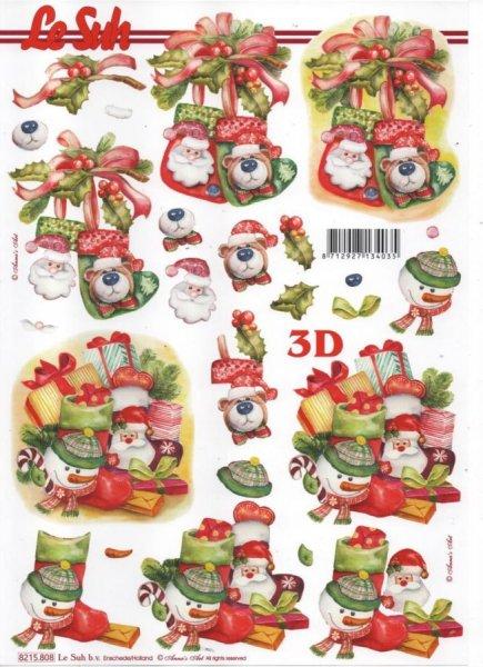 Noël et ourson feuille 3D