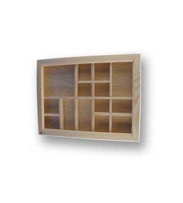 bois brut panneau mural avec compartiment. Black Bedroom Furniture Sets. Home Design Ideas
