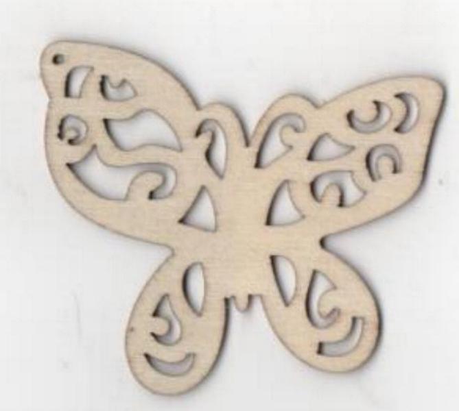 Papillon bois 65 mm x 40 mm