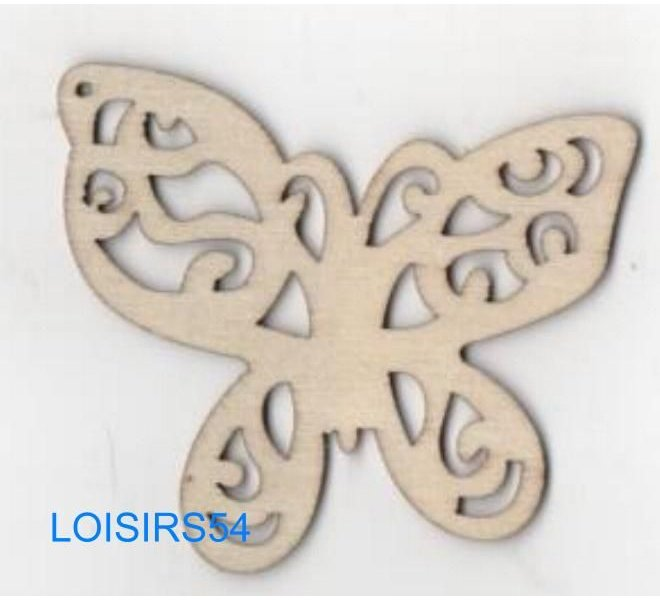 Papillon bois 65 mm x 40 mm à décorer