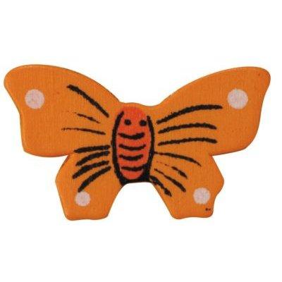 Papillons bois peint sachet de 12 pieces