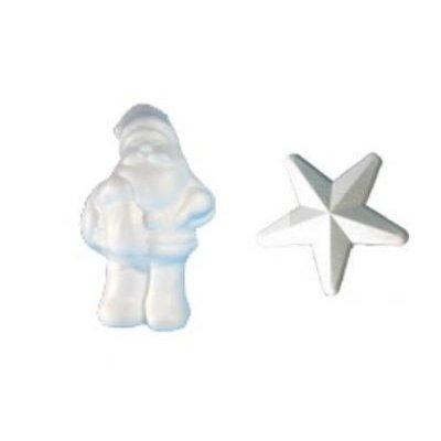 Père Noël 21 cm + 3 étoiles 15 cm