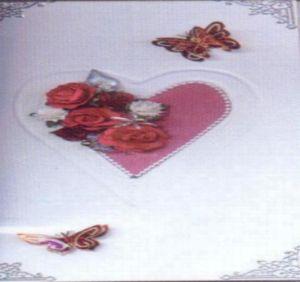Plaque embossage motif coeur
