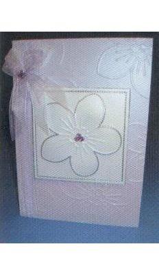 Plaque embossage motif fleurs