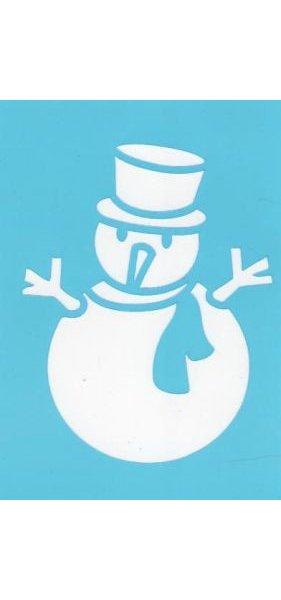 Matériel Carte 3d Pochoir Bonhomme De Neige Avec Chapeau Pour