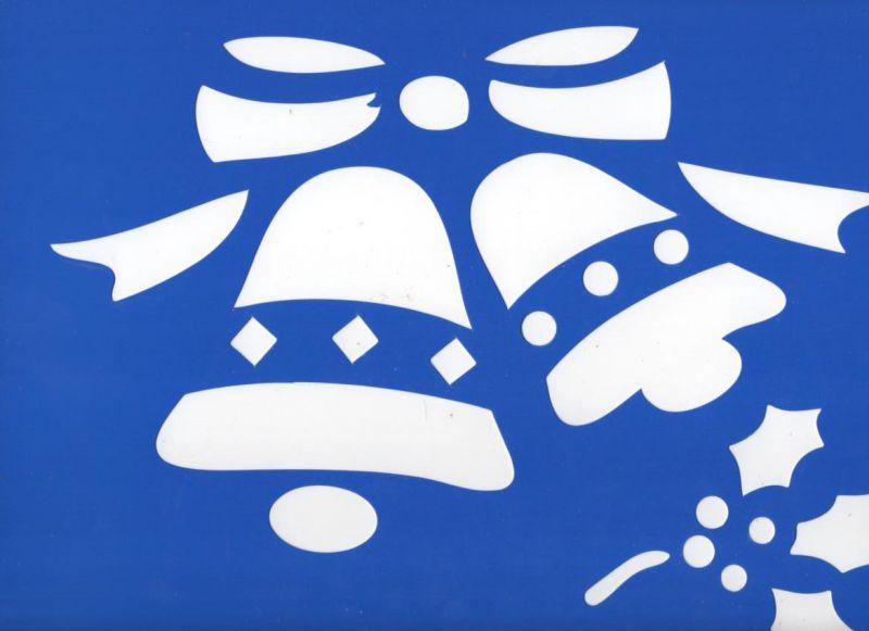 Pochoir cloche Noël 35 cm x 25 cm pour décoration