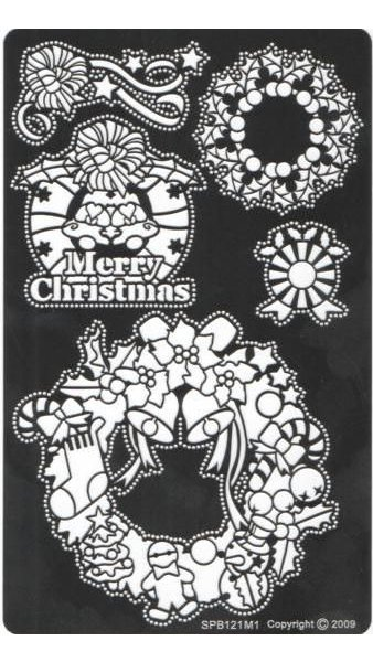 Pochoir laiton Merry Christmas