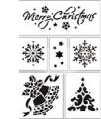 Pochoir Merry Christmas 200 mm x 150 mm