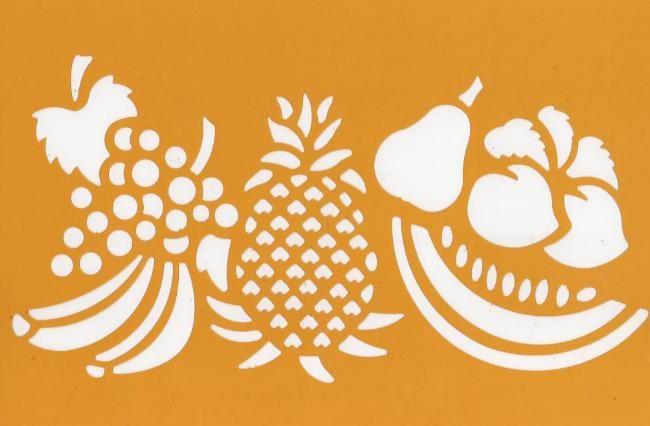 Pochoirs fruits pour décoration