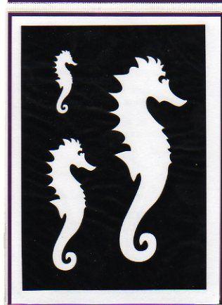 Mat riel carte 3d pochoirs hippocampe pour carte 3d - Fourniture loisirs creatifs ...