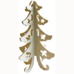 Sapin Noël en bois ajouré 200 mm x 200 mm