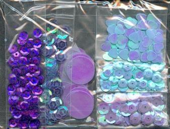 Sequins violet sachet de 30 g