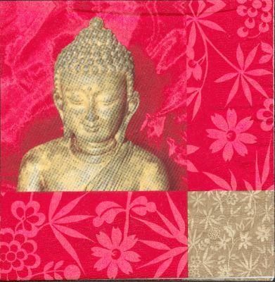 Pays serviette asie et bouddha 33 cm x 33 cm 3 plis - Fourniture loisirs creatifs ...