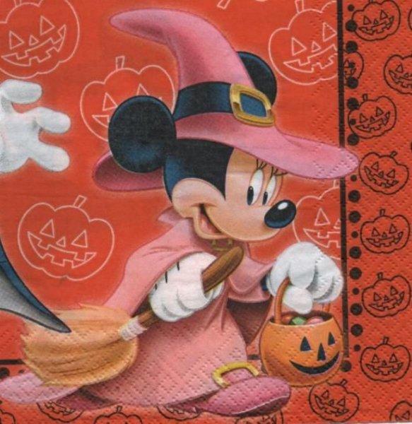 Serviette Mickey sorcier 33 cm X 33 cm 2 plis