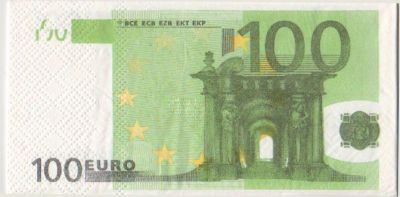 Serviette Money 100 Euro 8 cm X 16 cm 3 plis
