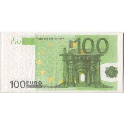 Serviette Money 100 Euro 8 cm X 16 cm 3 plis