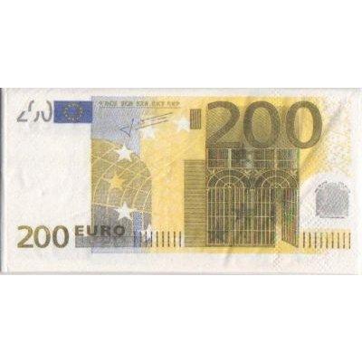 Serviette Money 200 Euro 8 cm X 16 cm 3 plis