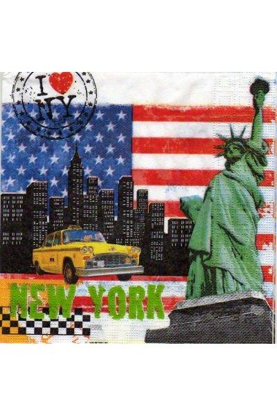 Serviette New York 33 cm X 33 cm 3 plis
