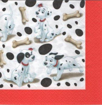 Serviette papier 101 dalmatiens de 33 cm X 33 cm 3 plis