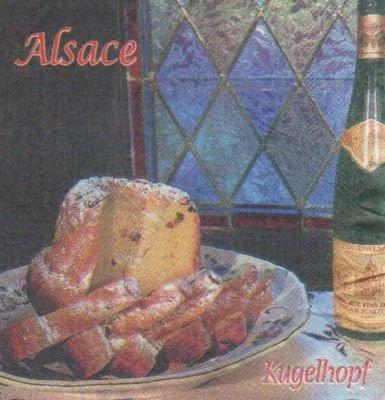Serviette papier Alsace et cuisine 33 cm X 33 cm 2 plis