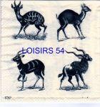 Serviette papier Animaux Afrique Antilopes