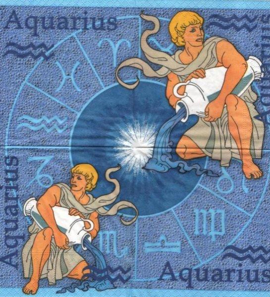 Serviette papier Astro Verseau 25 cm X 25 cm 3 plis