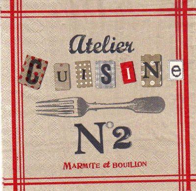 serviette papier motifs divers serviette papier atelier cuisine 33 cm x 33 cm 3 plis. Black Bedroom Furniture Sets. Home Design Ideas