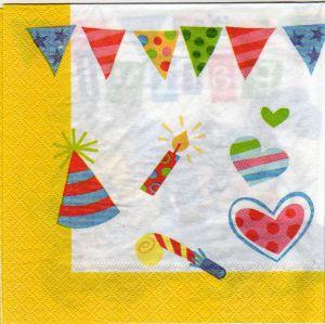 Serviette papier Baby Toon Titi 33 cm X 33 cm 2 plis