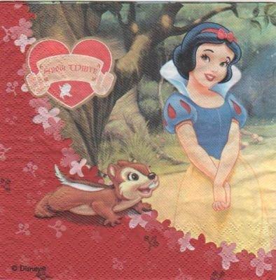 Serviette papier Blanche neige et bambi de 33 cm X 33 cm