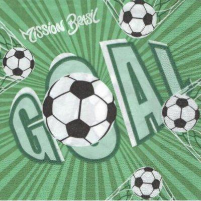 Serviette papier Brésil 2014 Goal de 33 cm X 33 cm 3 plis