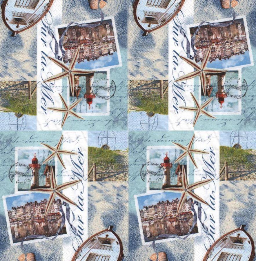 Serviette papier La Bretagne 33 cm X 33 cm 3 plis