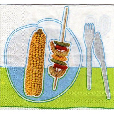 Serviette papier brochettes Party de 33 cm X 33 cm 3 plis