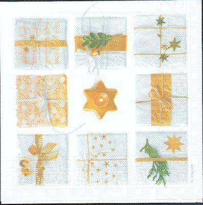 Serviette papier cadeaux de Noël 33 cm X 33 cm 3 plis