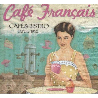 Serviette papier Café français de 33 cm X 33 cm 3 plis