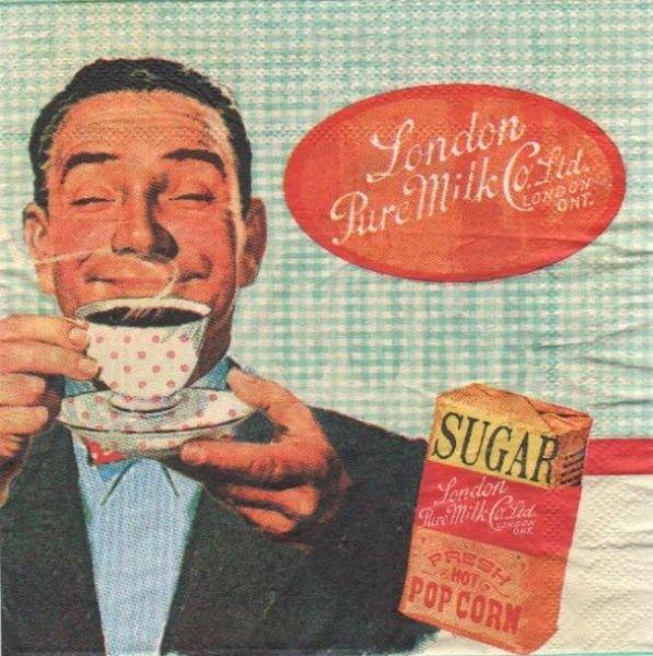 Serviette papier café break de 33 cm X 33 cm