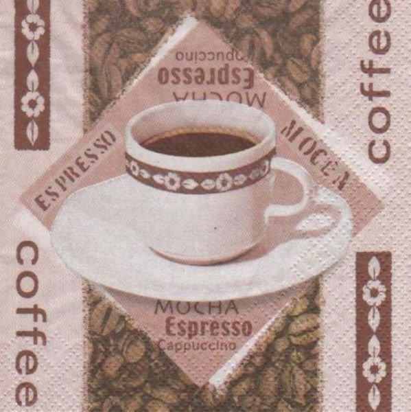 Serviette papier café espresso de 25 cm X 25 cm