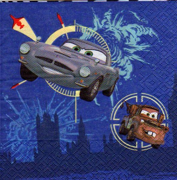 D co enfant serviette papier cars2 et martin de 33 cm x - Fourniture loisirs creatifs ...