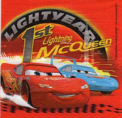 Serviette papier Cars Doc MC Queen de 33 cm X 33 cm 2 plis