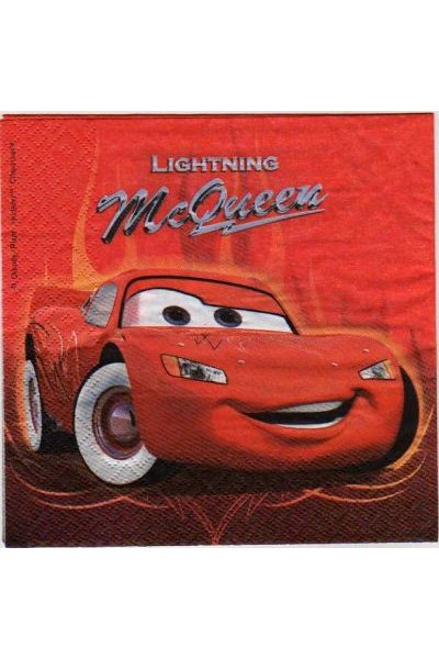 Serviette papier Cars et Ramone 33 cm X 33 cm 3 plis