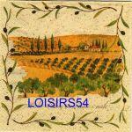 Serviette papier champ d'oliviers