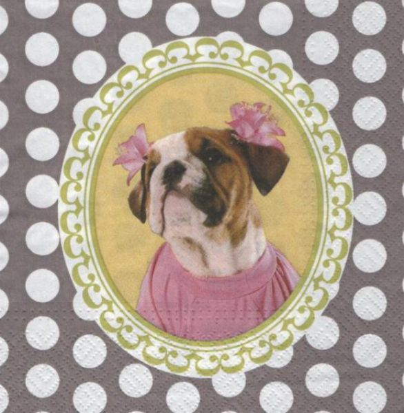 Animaux serviette papier chien basset33 cm x 33 cm 3 plis - Fournitures loisirs creatifs ...